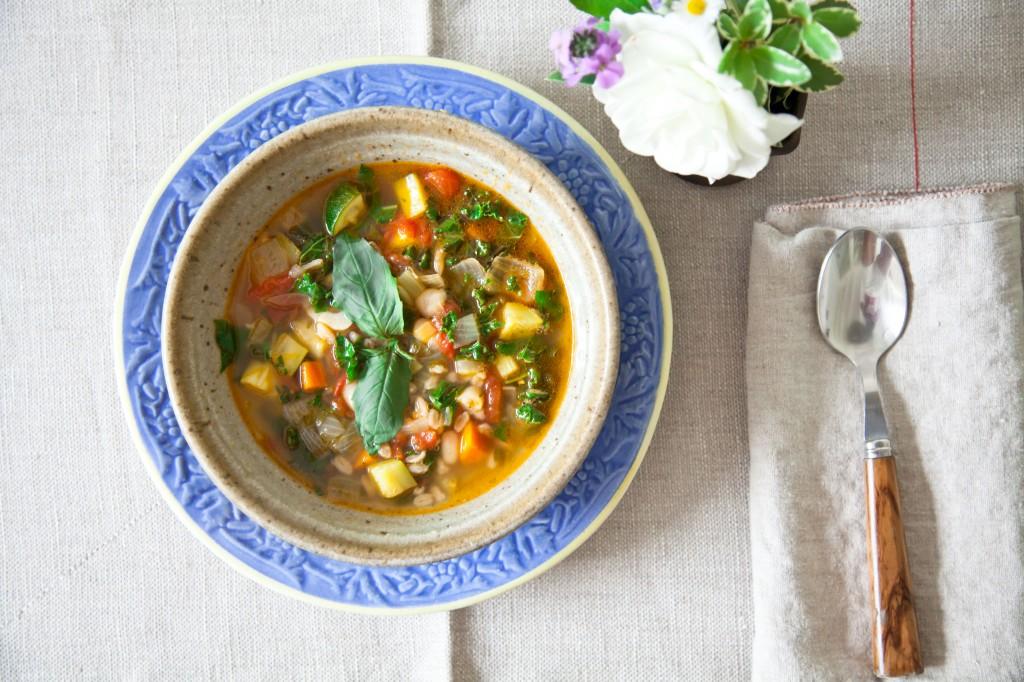 Pamela Salzman, Shiva Rose, Minestrone soup