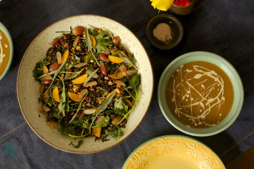 Thanksgiving side dishes, wild rice, Butternut Squash and Apple Soup, Wild Rice Salad