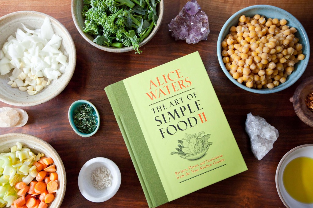 Alice waters recipe, chickpea soup