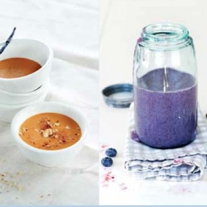 "Recipe for the Blueberries and Cream ""Kefir,"" Raw Recipes & Cooking with Matthew Kenney, The Local Rose, Shiva Rose"