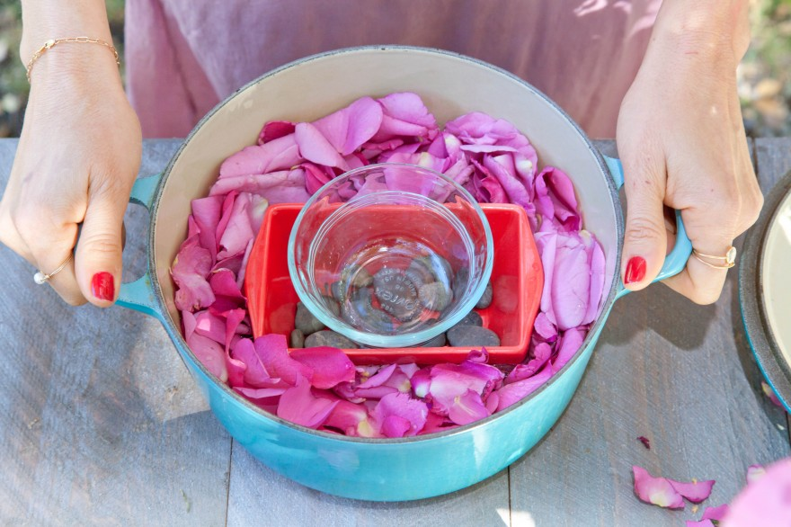 making rose water, DIY rose water toner