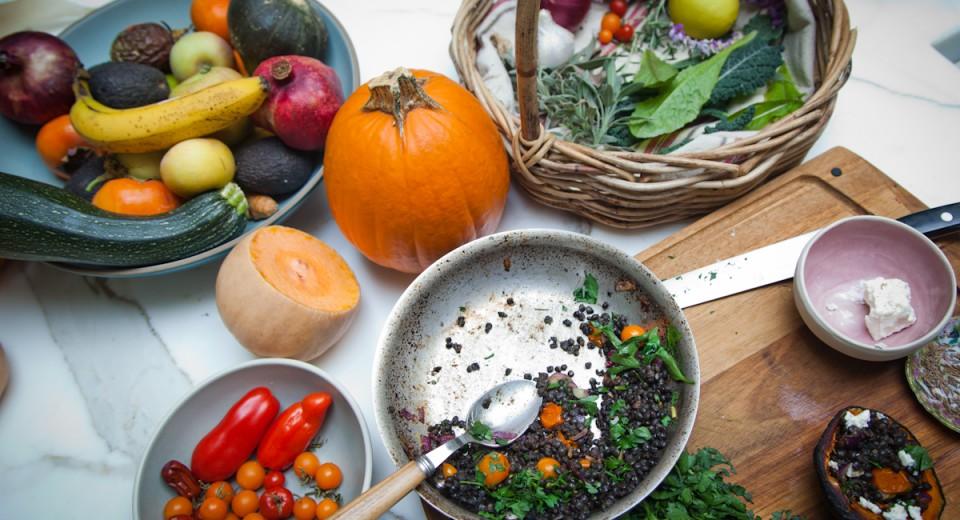 Winter Stuffed Squash and Lentil Recipe