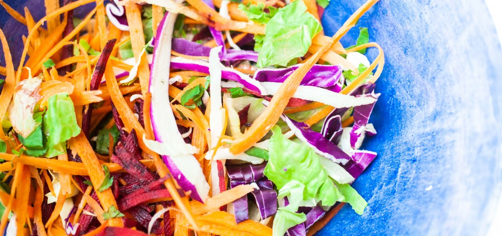 The Local Rose shares a raw vegetables salad recipe including the healthiest, cancer-fighting ingredients chocked with minerals, vitamins and amino acids.