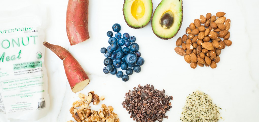 The Local Rose shares her favorite superfoods to achieve glowing skin, including coconut meat, hemp seeds, sweet potatoes, avocado, blueberries and cocoa.