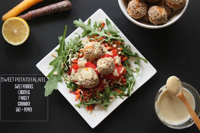 Sweet Potato Falafel With Tahini Mint Sauce