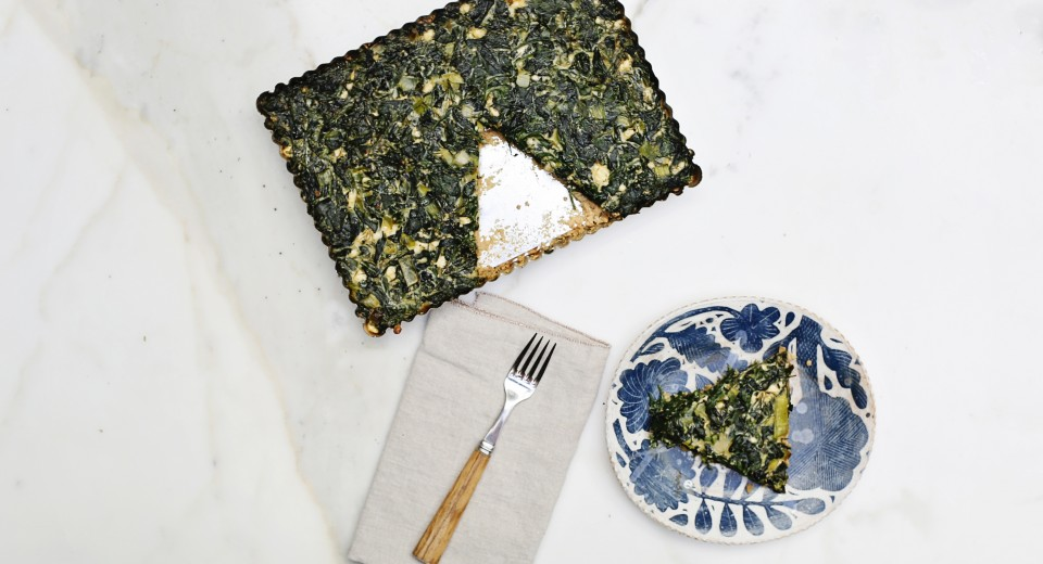 New Year's Day Savory Tart with Sweet Laurel